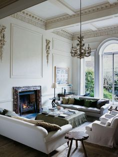 Classic English coziness meets minimalist rigor for a style that is both timeless and of the moment in the interior designer Rose Uniacke's London home.