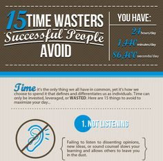 Infographic: 15 Time Wasters Successful People Avoid - DesignTAXI.com