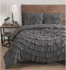 An awesome Elegant 3 Piece Queen Size Comforter Set Ruffle Bedding Bed Bedroom Decor New for only $97.92.