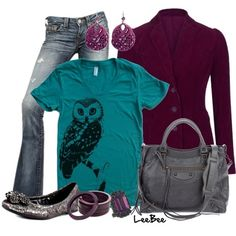 Teal and Eggplant