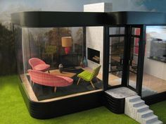 My Modern Dollhouses: Kathy's Modern Dollhouse, this one started it all for me, DDR furniture!
