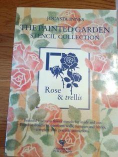 JOCASTA INNES STENCIL Rose & Trellis The Painted Garden Collection EUC. RARE #JOCASTAINNES