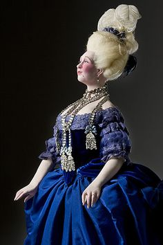 Portrait length color image of Countess de la Motte (necklace) aka. Jeanne de Valois, by George Stuart.