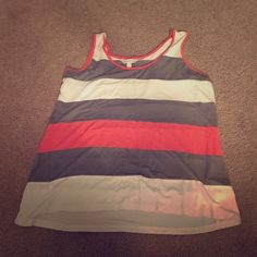 Stripped tank Lightweight tank. Worn only once! Charming Charlie Tops Tank Tops