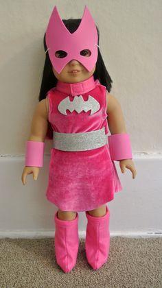 Super Hero costume for 18 doll  Pink Batgirl by geiserweaver, $15.95