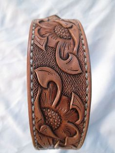 Handmade Medium Leather Dog Collar  Custom by AcrossLeather
