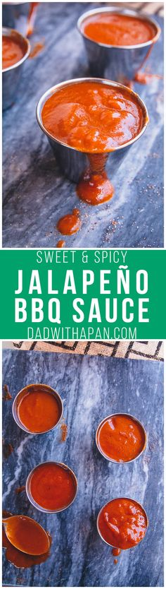 A Texas Style barbecue sauce with roasted apple cider vinegar, tomato sauce, jalapeno, and spices to give a sweet, tangy and spicy barbecue sauce... Sweet And Spicy Bbq Sauce Recipe, Sweet Barbecue Sauce Recipe, Ghost Pepper Bbq Sauce Recipe, Bbq Brine Recipe, Barbeque Sauce, Barbecue Recipes, Grilling Recipes, Vegetarian Barbecue, Barbecue Ribs