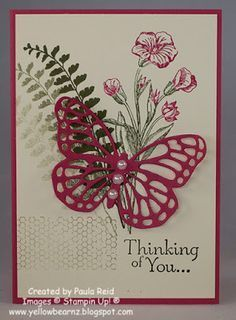 Yellowbear Stampin: Butterfly Basics Sympathy Card…