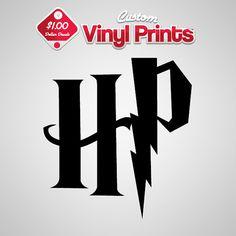 Harry Potter Decal Logo HP Car Window Sticker Vinyl Decals CustomVinylPrints.com 1.00 Decals