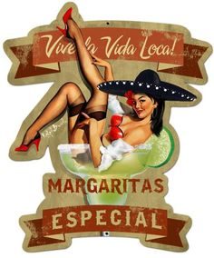 Vintage and Retro Tin Signs - JackandFriends.com - Retro Margarita Especial Custom Shape Metal 20 x 24 Inches, $79.97 (http://www.jackandfriends.com/retro-margarita-especial-custom-shape-metal-20-x-24-inches/)