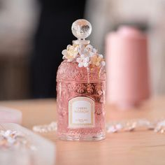 Parfum Guerlain, Fragrance Parfum, Perfume Collection, Makeup Collection, Beautiful Perfume, Beauty Care, Girly Things, Cherry Blossom, Perfume Bottles