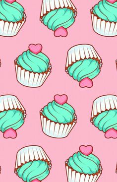 31 Ideas For Cupcakes Wallpaper Iphone Kawaii Unicornios Wallpaper, Cupcakes Wallpaper, Kawaii Wallpaper, Tumblr Wallpaper, Pattern Wallpaper, Kitchen Wallpaper, Cute Backgrounds, Phone Backgrounds, Wallpaper Backgrounds