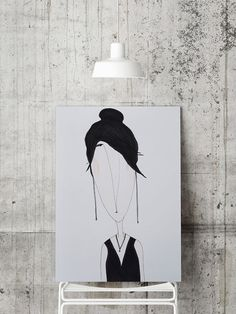PRINT  GIRL 4: Illustration Print. by ekinakis on Etsy Digital print of Ekin Büyükşahin's