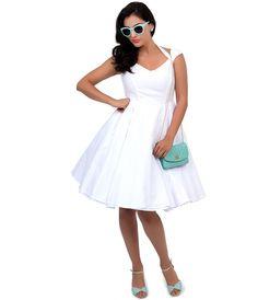 1950s Style Swiss Dot Eveline Swing Dress #uniquevintage