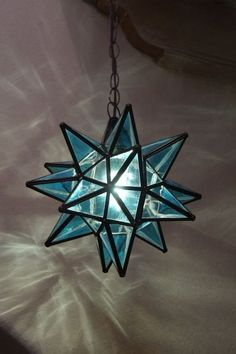 "Moravian 11.5""  blue topaz star  WITH canopy #handmadeulapprovedsocket"