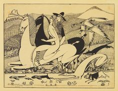 Ficheiro:Amadeo de Souza-Cardoso, The Hawks, indian ink on paper, 27 x cm. Art And Illustration, Famous Artists, Great Artists, Art Sketches, Art Drawings, Modernisme, Collages, Vintage Prints, Love Art