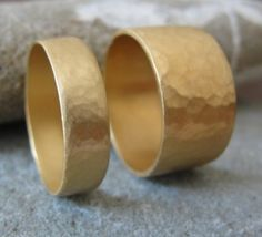 Ring  14k Gold Bands  His and Hers by AurumJewelry on Etsy, $1130.00