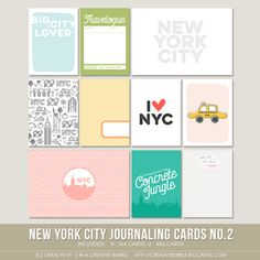 Image of New York City Journaling Cards no.2 (Digital)