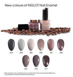 New Colours Of INGLOT Nail Enamel