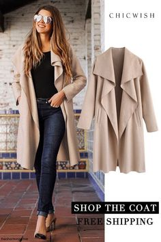 Free Shipping & Easy Return. Up to 30% Off. Free Myself Open Front Wool-Blend Coat @thecharmingolive. #coats #cardigan #woolcoat#cozyoutfit #outfit #womenfashion #clothing #warm #soft #opencoat