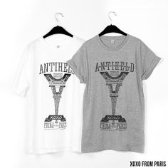 XOXO from Paris // WHITE: http://antiheld-couture.com/shop/home/37-xoxo-from-paris-shirt-weiss.html GREY: http://antiheld-couture.com/shop/unisex-shirts/106-xoxo-from-paris-shirt-grau.html