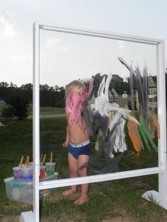 Outdoor plexi glass art easel