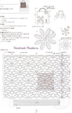 Ideas Crochet Basket Chart Market Bag For 2019 Crochet Cat Pattern, Crochet Rug Patterns, Bag Pattern Free, Crochet Diagram, Crochet Clutch, Crochet Purses, Crochet Bags, Crochet Stitches Chart, Crochet Market Bag