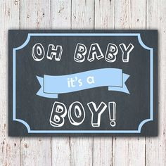 It's A Boy Announcement Printable Gender by ThoseDarlingDesigns