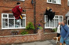 Pictures of weird and wonderful scarecrows at the Muston Scarecrow Festival, from Rupert Murdoch and Rebekah Brooks to Harry Potter.