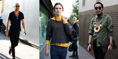 Men in necklaces. Yes, Oui, Si. The Sartorialist