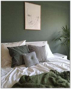 Bedroom Wall Decoration Ideas - Home Decor Ideas Bedroom Green, Green Rooms, Home Bedroom, Bedroom Decor, Bedrooms, Green Walls, Teen Bedroom, Master Bedroom, Wall Decor