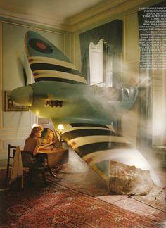 Magazine: Vogue UK (March 2009)  Editorial: Chocks Away  Photographer: Tim Walker  Model: Lily Donaldson