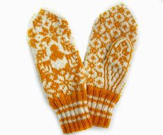 Knit your own Norwegian inspired Easter mittens. Yarn kits available in both English and Norwegian Mittens Pattern, Knit Mittens, Fair Isle Knitting, Sock Yarn, Yarn Colors, Digital Pattern, Knitting Designs, Hand Warmers, Crochet