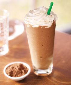 Mocha Frap  1 1/2 T instant coffee granules  2 T French vanilla creamer (powdered)  1 T cocoa  1/2 C skim milk  1 packet Truvia  1-2 C ice    -Throw it all in a blender and hit GO!  -Drink up