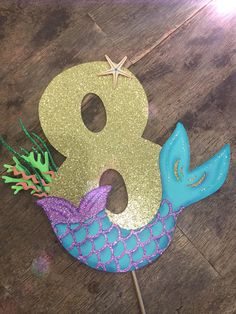 Under the Sea Birthday Cake Topper. Under the Sea topper Mermaid Pinata, Mermaid Tail Cake, Mermaid Party Food, Mermaid Birthday Cakes, Mermaid Party Decorations, Little Mermaid Birthday, Mermaid Diy, Little Mermaid Parties, Mermaid Cakes