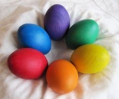 Pretty wooden eggs!