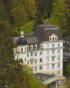 Das traditionsreiche Hotel Römerbad in Badenweiler, das es fast 200 Jahre schon in dem kleinen Kurstädtchen gibt. 1888 wurde das Hotel eröffnet.