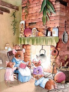 Illustration by Gabriel Evans Cute Mouse, Beatrix Potter, Bedtime Stories, Peter Rabbit, Children's Book Illustration, Whimsical Art, Cute Art, Illustrators, Cute Pictures