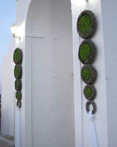 Multiple wreathes - church decoration