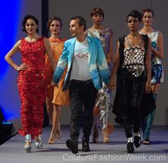 Colombia designer Jorge Afanador at Couture Fashion Week New York
