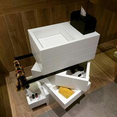 MyBath Levels washbasin www. Corian, Towel Rail, Solid Surface, Drafting Desk, Modern Bathroom, Storage Chest, Drawers, Cabinet, Interior Design