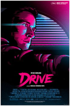 Unofficial DRIVE movie poster by James White, via Behance