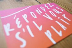 New York City Wedding RSVP by Dearly Beloved Design Screenprinted ombre invite