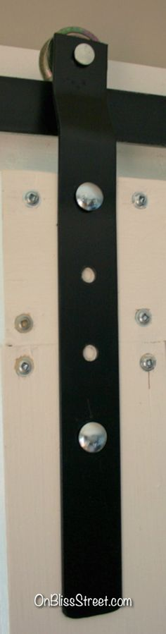 Pin for later! DIY Barn Door Hardware tutorial for super cheap!  Simple and wont break the bank!