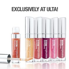 Make your lips the star of your beauty look with @bareMinerals new Marvelous Moxie Show Me the Shimmer Lip Gloss Collection! 6 alluring shades add brilliant color and dimensional shine to accentuate your pucker. ONLY at ULTA! #ulta #ultabeauty