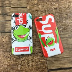 Supreme kermit frog phone case cover fits for iphone 8 Iphone 5s, Iphone 7 Plus, Supreme Case, Stocking Stuffers For Girls, Iphone Cases For Girls, Kermit, 6s Plus, Ipads, Bape