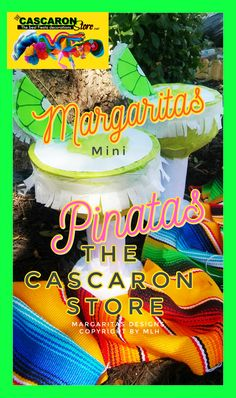 fiestadecorations, Fiesta Store The Cascaron Store fiesta margaritas mini pinatas decorations, custom fiesta door wreaths and decorations. Wedding Pinata, Pinata Party, Fiesta Theme Party, Party Themes, Mini Pinatas, Fiesta Decorations, Door Wreaths, Special Day, Store