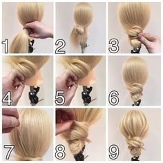 How to make buns hair super easy! For Beginners - Introduction to Evolutionary Methods Work Hairstyles, Bride Hairstyles, Medium Hair Styles, Long Hair Styles, Hair Tuck, Hair Upstyles, Hair Arrange, Good Hair Day, Hair Dos