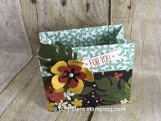 The Botanical Garden Product Suite is all over pinterest!  Amazing samples!  You have to get this.  Get a free tutorial for this cute little bag with the Botanical Gardens Class  #botanicalgardens  #stampinup  #stampinbj