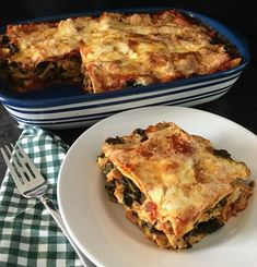 Flavorful vegetarian lasagna including a recipe for homemade ricotta cheese
